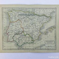 Arte: ANTIGUO MAPA DE HISPANIA ANTIQUA ESPAÑA ROMANA GRABADOR SIDNEY HALL PUBLICADO POR LONGMAN & CO. 1838. Lote 226250226