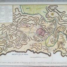 Arte: MAPA FORTALEZA MILITAR DE CARDONA - BARCELONA - AÑO 1711 -GUERRA DE SUCESIÓN - TINDAL RAPIN BASIRE. Lote 226294160