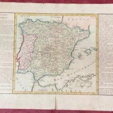 Arte: AÑO 1767 - MAPA DE ESPAÑA - POR CLOUET, 1ª EDICIÓN. Lote 226487480