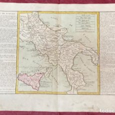 Arte: AÑO 1767 - MAPA DE ITALIA NAPOLES SICILIA - POR CLOUET, 1ª EDICIÓN. Lote 226488570