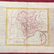 Arte: AÑO 1767 - MAPA DE ITALIA CERDEÑA REINO DE SARDAIGNE- POR CLOUET, 1ª EDICIÓN. Lote 226489660