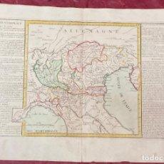 Arte: AÑO 1767 - MAPA DE ITALIA SEPTENTRIONAL VENECIA TOSCANE SAVOYE POR CLOUET, 1ª EDICIÓN. Lote 226490080
