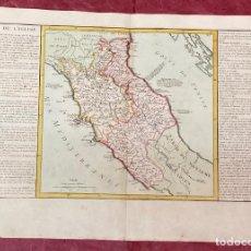 Arte: AÑO 1767 - MAPA DE ITALIA NÁPOLES TOSCANA POR CLOUET, 1ª EDICIÓN. Lote 226491325