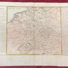 Arte: AÑO 1767 - MAPA DE ALEMANIA FRANCIA POLONIA AUSTRIA POR CLOUET, 1ª EDICIÓN. Lote 226491720