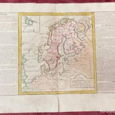 Arte: AÑO 1767 - MAPA DE SUECIA DINAMARCA RUSIA POLONIA ALEMANIA POR CLOUET, 1ª EDICIÓN. Lote 226591175