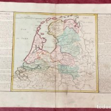 Arte: AÑO 1767 - MAPA DE HOLANDA POR CLOUET, 1ª EDICIÓN. Lote 226591885