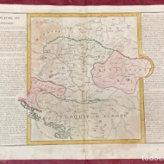 Arte: AÑO 1767 - MAPA DE HUNGRIA TRANSILVANIA TURQUIA POLONIA POR CLOUET, 1ª EDICIÓN. Lote 226592940