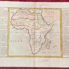 Arte: AÑO 1767 - MAPA DE ÁFRICA GUINEA MADAGASCAR ABISINIA MARRUECOS POR CLOUET, 1ª EDICIÓN. Lote 226596721