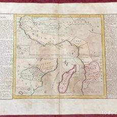 Arte: AÑO 1767 - MAPA DE GUINEA MADAGASCAR CONGO POR CLOUET, 1ª EDICIÓN. Lote 226597635