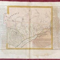 Arte: AÑO 1767 - MAPA DE EGIPTO ABISINIA POR CLOUET, 1ª EDICIÓN. Lote 226598020