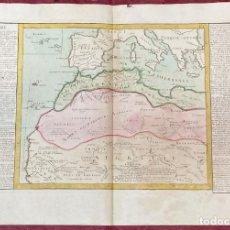 Arte: AÑO 1767 - MAPA DEL SÁHARA BARBARIA GUINEA POR CLOUET, 1ª EDICIÓN ÁFRICA. Lote 226601680