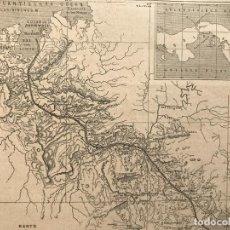 Arte: MAPA DEL ISTMO O CANAL DE PANAMÁ (AMÉRICA CENTRAL), 1882. ANÓNIMO. Lote 226896355