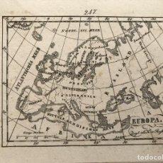 Arte: MAPA DE EUROPA Y TEXTO, 1832. ANÓNIMO. Lote 226908850
