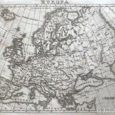 Arte: MAPA DE EUROPA, 1850. LEUTEMANN. Lote 226910055