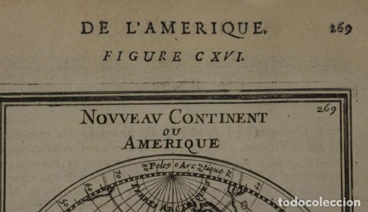 Arte: Mapa del Nuevo Continente o América, 1683. Mallet - Foto 2 - 226912320