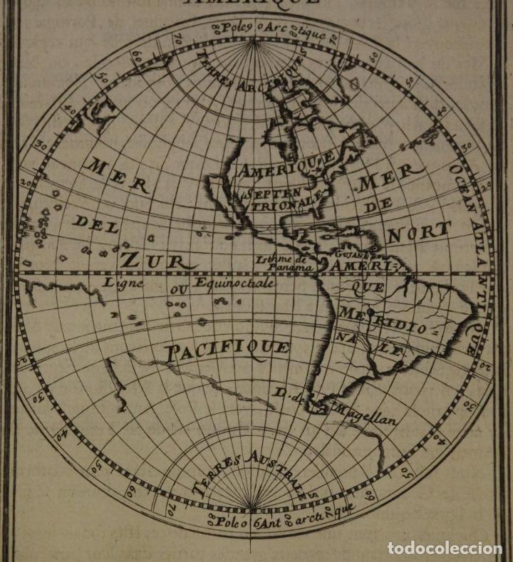 Arte: Mapa del Nuevo Continente o América, 1683. Mallet - Foto 3 - 226912320