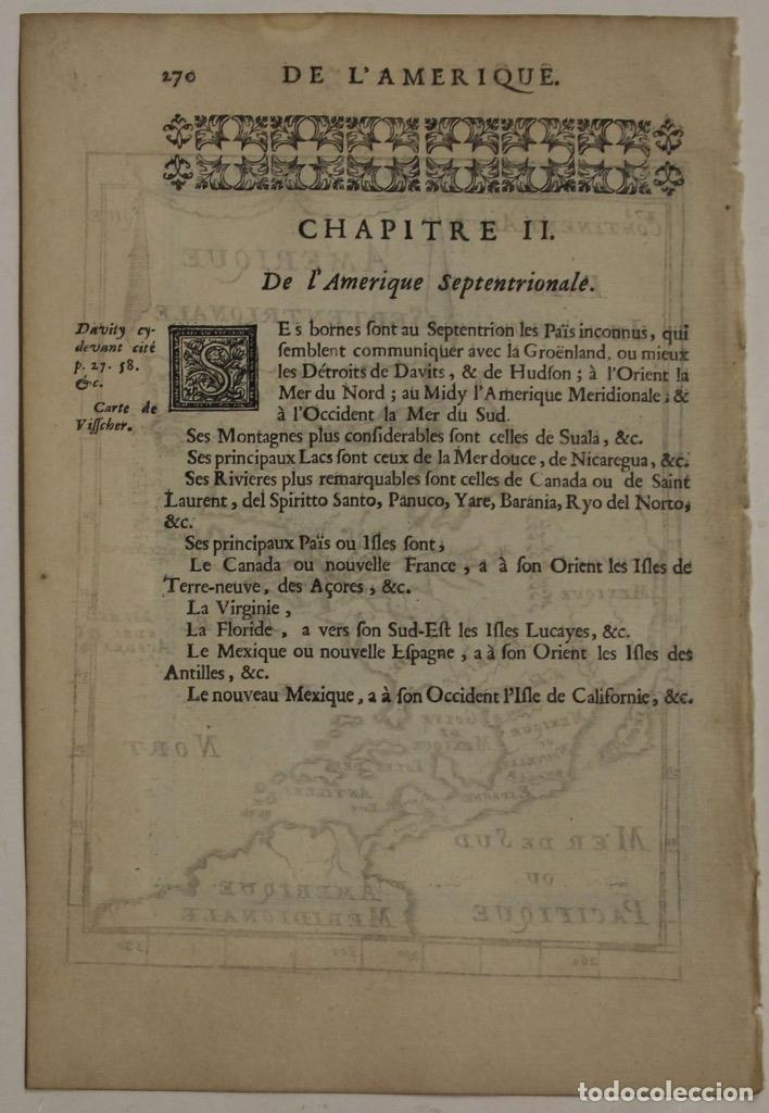 Arte: Mapa del Nuevo Continente o América, 1683. Mallet - Foto 4 - 226912320