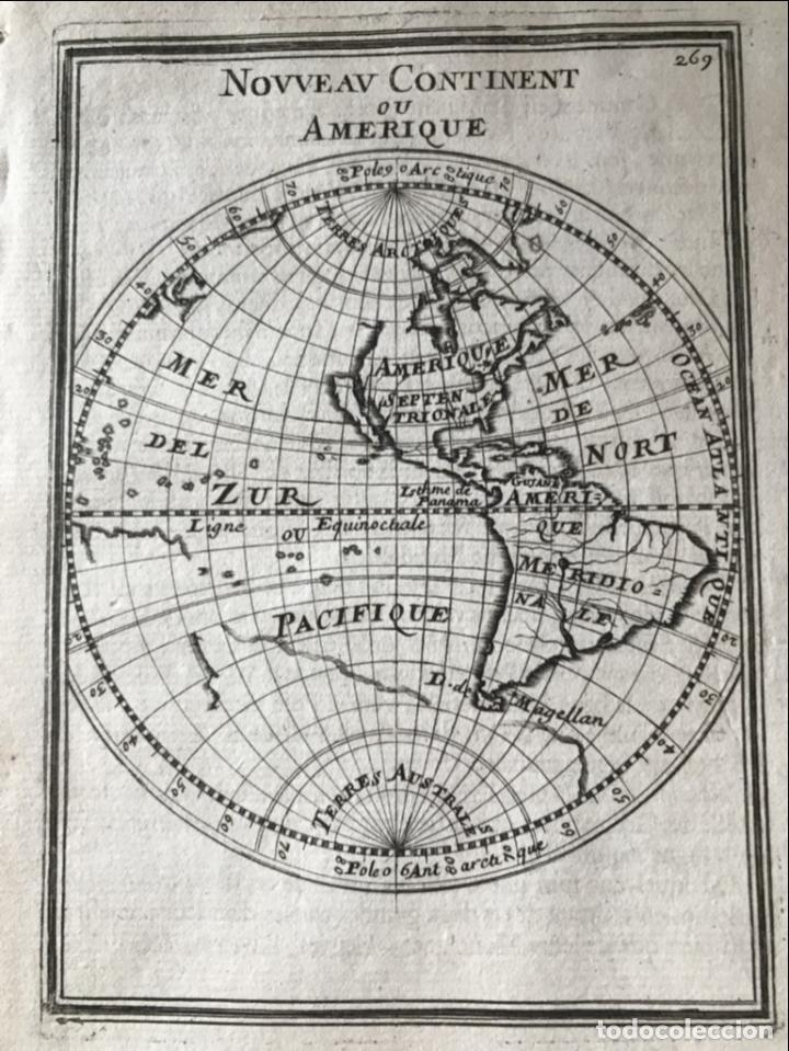 Arte: Mapa del Nuevo Continente o América, 1683. Mallet - Foto 6 - 226912320