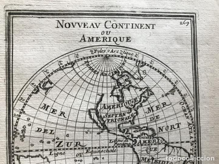 Arte: Mapa del Nuevo Continente o América, 1683. Mallet - Foto 7 - 226912320