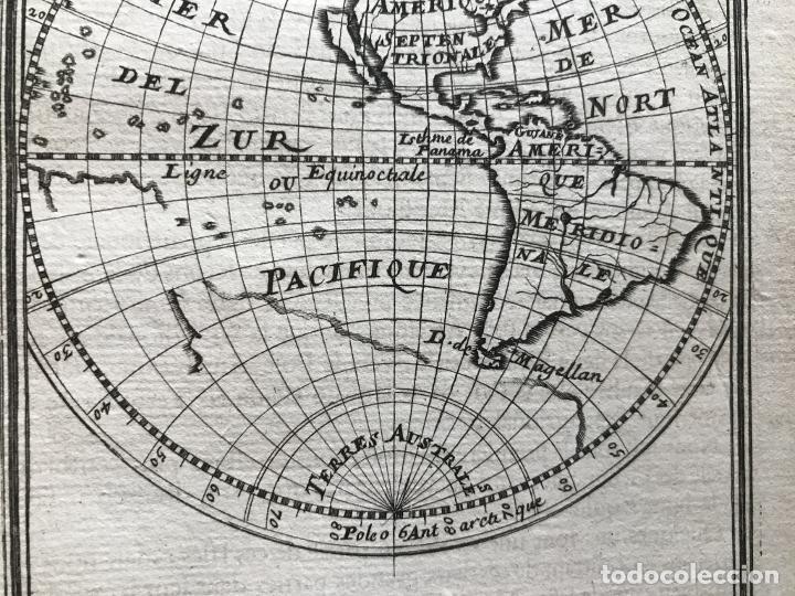 Arte: Mapa del Nuevo Continente o América, 1683. Mallet - Foto 8 - 226912320