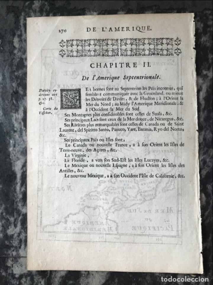 Arte: Mapa del Nuevo Continente o América, 1683. Mallet - Foto 9 - 226912320