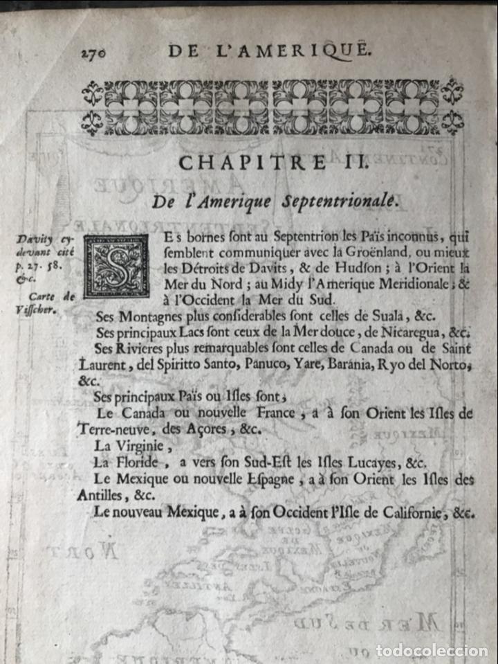 Arte: Mapa del Nuevo Continente o América, 1683. Mallet - Foto 10 - 226912320