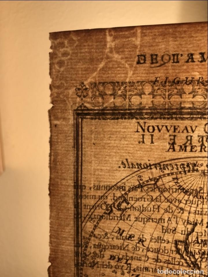 Arte: Mapa del Nuevo Continente o América, 1683. Mallet - Foto 12 - 226912320