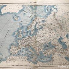 Arte: MAPA DE EUROPA, HACIA 1870. BERGHAUS/MALTÉ. Lote 227050265