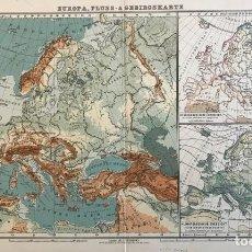 Arte: MAPAS DE EUROPA Y SUDOESTE DE ASIA, CA. 1895. VARIOS AUTORES. Lote 227245530