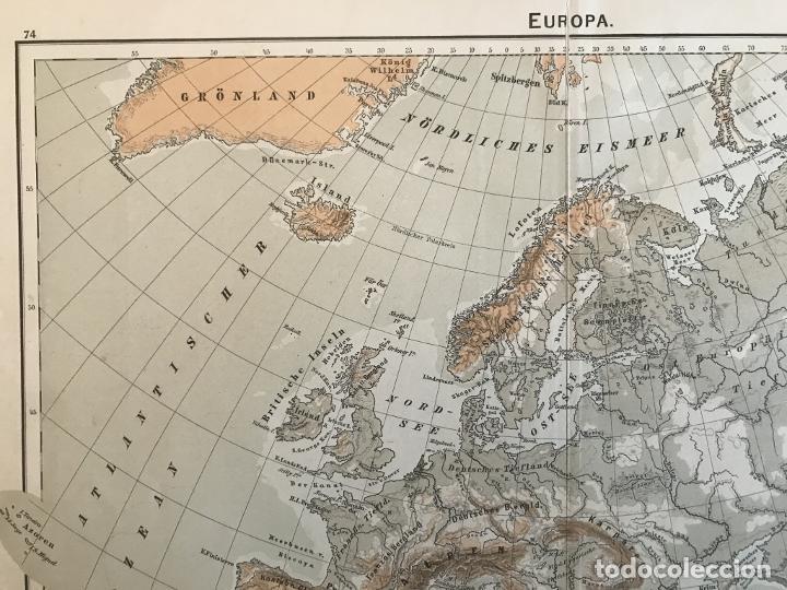 Arte: Mapas físicos a color de Europa, hacia 1895. George Westermann - Foto 3 - 227832995