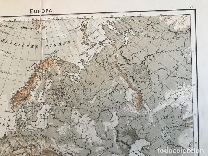 Arte: Mapas físicos a color de Europa, hacia 1895. George Westermann - Foto 4 - 227832995
