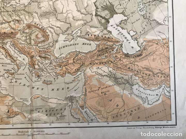 Arte: Mapas físicos a color de Europa, hacia 1895. George Westermann - Foto 5 - 227832995