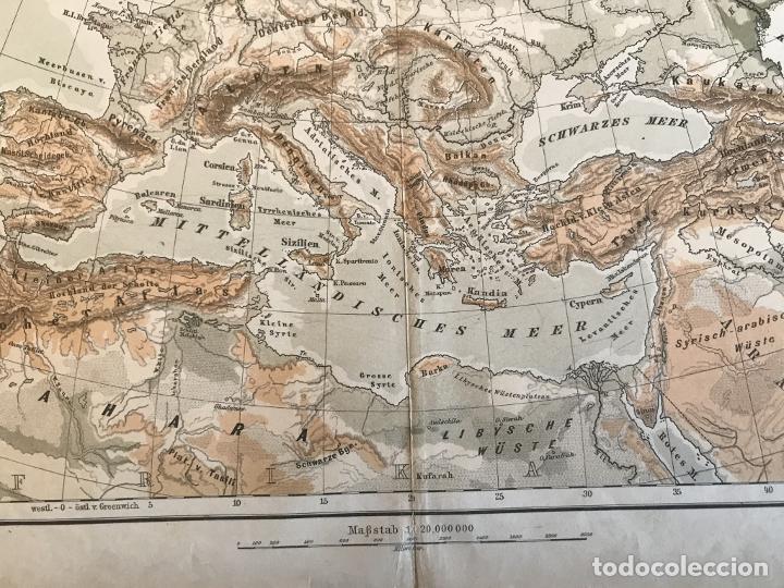 Arte: Mapas físicos a color de Europa, hacia 1895. George Westermann - Foto 6 - 227832995