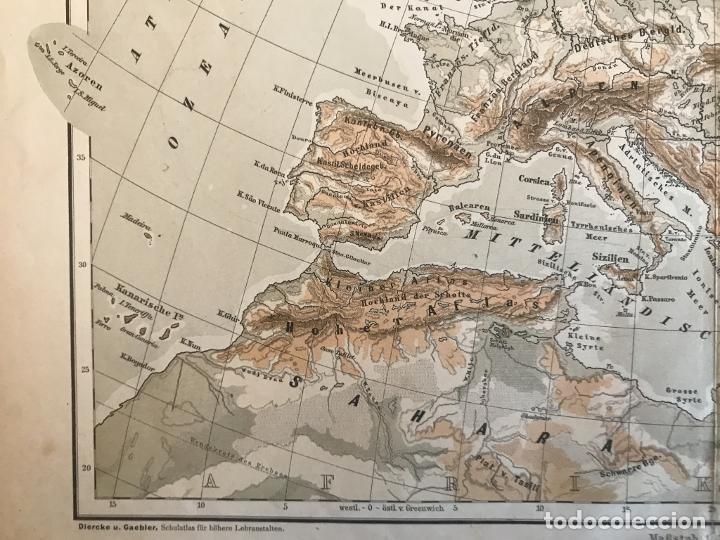 Arte: Mapas físicos a color de Europa, hacia 1895. George Westermann - Foto 7 - 227832995