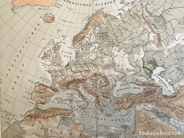 Arte: Mapas físicos a color de Europa, hacia 1895. George Westermann - Foto 8 - 227832995