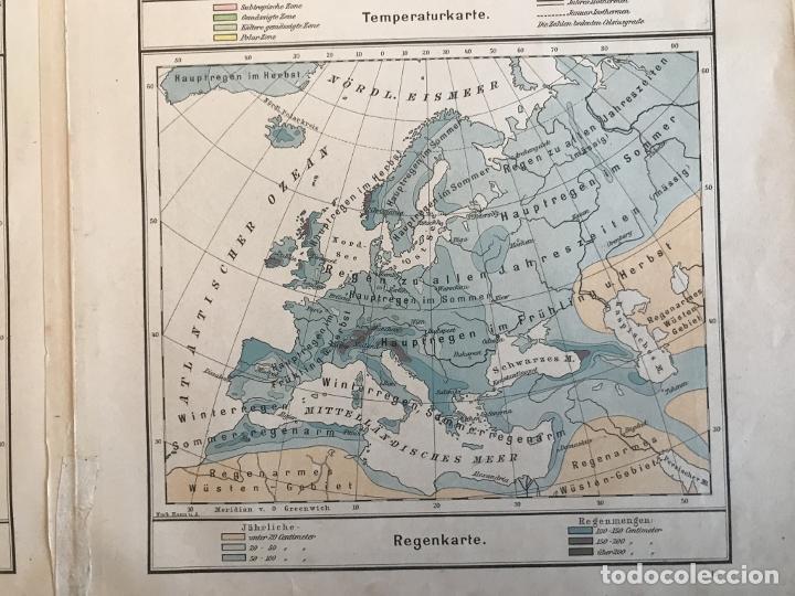 Arte: Mapas físicos a color de Europa, hacia 1895. George Westermann - Foto 13 - 227832995
