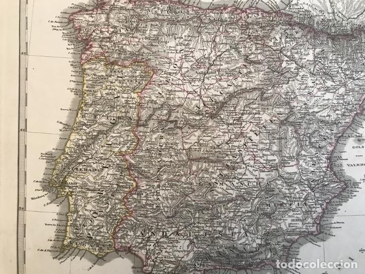 Arte: Mapa de España y Portugal, 1863. Stieler/Perthes/Poppey - Foto 8 - 227841925