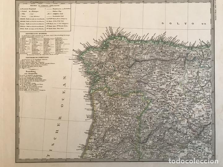 Arte: Gran mapa de España y Portugal en 4 hojas independientes, 1867. Stülpagel/Stieler/Perthes - Foto 3 - 227845095