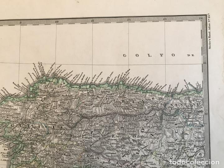 Arte: Gran mapa de España y Portugal en 4 hojas independientes, 1867. Stülpagel/Stieler/Perthes - Foto 5 - 227845095