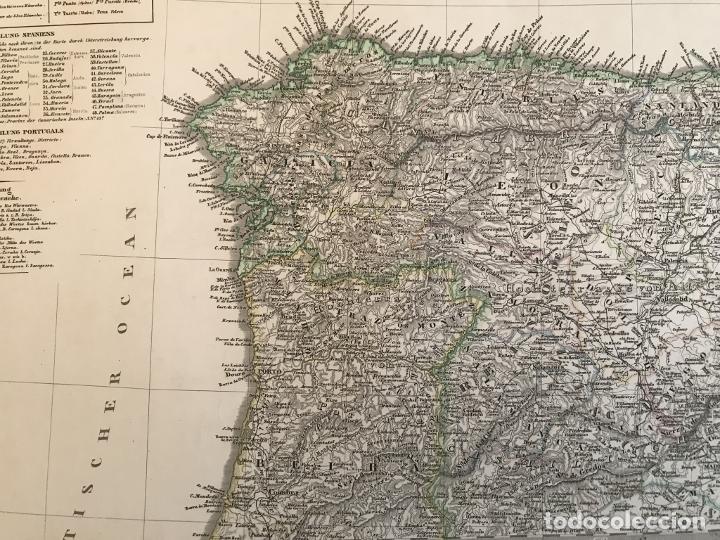 Arte: Gran mapa de España y Portugal en 4 hojas independientes, 1867. Stülpagel/Stieler/Perthes - Foto 10 - 227845095