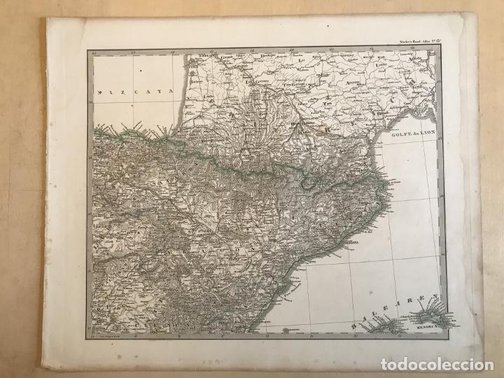 Arte: Gran mapa de España y Portugal en 4 hojas independientes, 1867. Stülpagel/Stieler/Perthes - Foto 12 - 227845095
