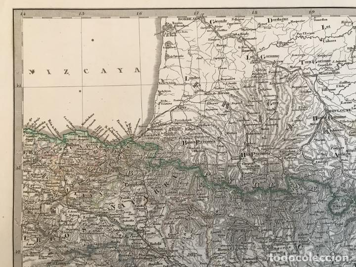 Arte: Gran mapa de España y Portugal en 4 hojas independientes, 1867. Stülpagel/Stieler/Perthes - Foto 14 - 227845095