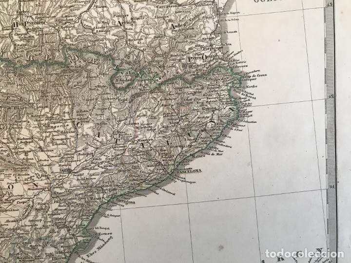 Arte: Gran mapa de España y Portugal en 4 hojas independientes, 1867. Stülpagel/Stieler/Perthes - Foto 16 - 227845095