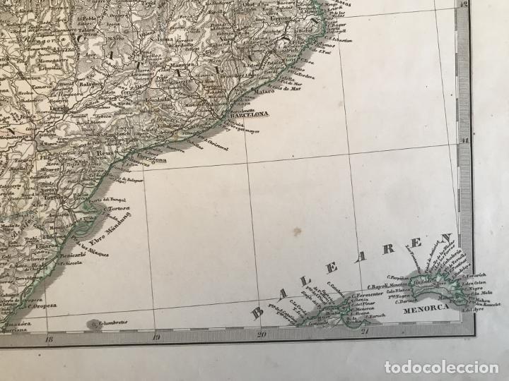 Arte: Gran mapa de España y Portugal en 4 hojas independientes, 1867. Stülpagel/Stieler/Perthes - Foto 17 - 227845095