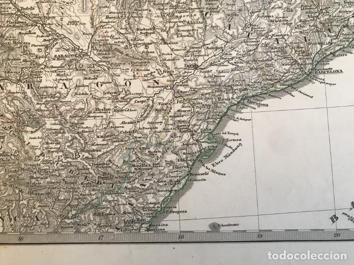 Arte: Gran mapa de España y Portugal en 4 hojas independientes, 1867. Stülpagel/Stieler/Perthes - Foto 18 - 227845095