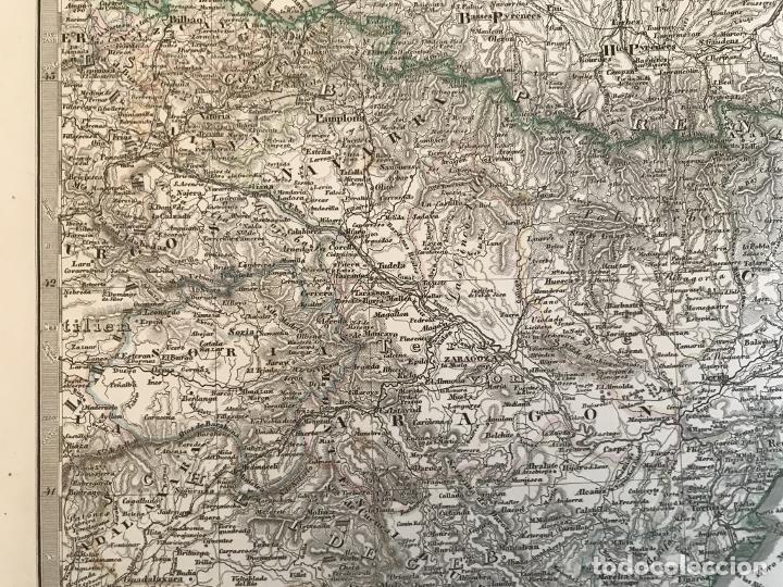 Arte: Gran mapa de España y Portugal en 4 hojas independientes, 1867. Stülpagel/Stieler/Perthes - Foto 20 - 227845095