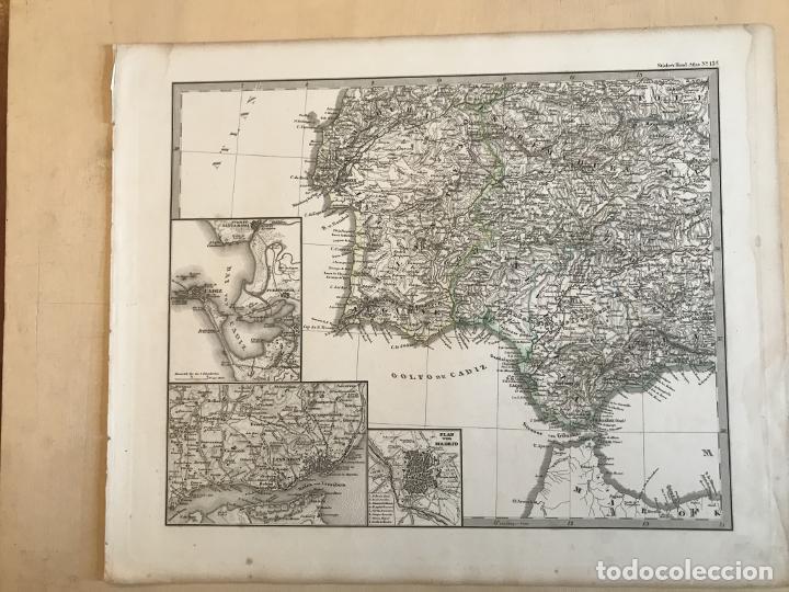 Arte: Gran mapa de España y Portugal en 4 hojas independientes, 1867. Stülpagel/Stieler/Perthes - Foto 23 - 227845095