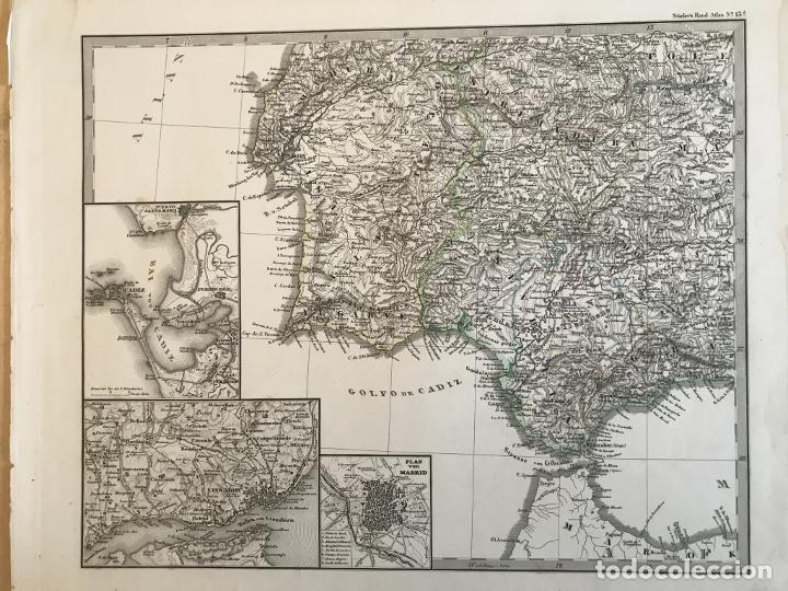 Arte: Gran mapa de España y Portugal en 4 hojas independientes, 1867. Stülpagel/Stieler/Perthes - Foto 24 - 227845095