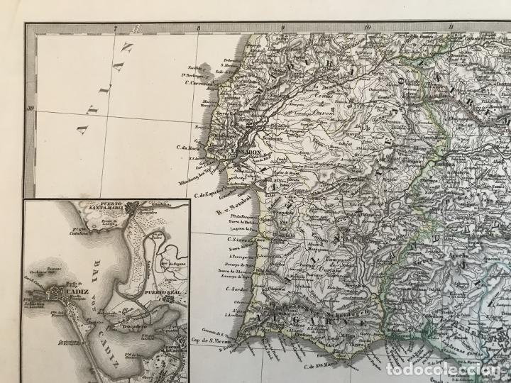 Arte: Gran mapa de España y Portugal en 4 hojas independientes, 1867. Stülpagel/Stieler/Perthes - Foto 25 - 227845095