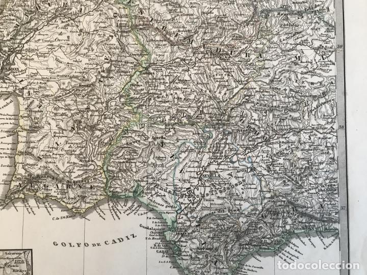 Arte: Gran mapa de España y Portugal en 4 hojas independientes, 1867. Stülpagel/Stieler/Perthes - Foto 27 - 227845095